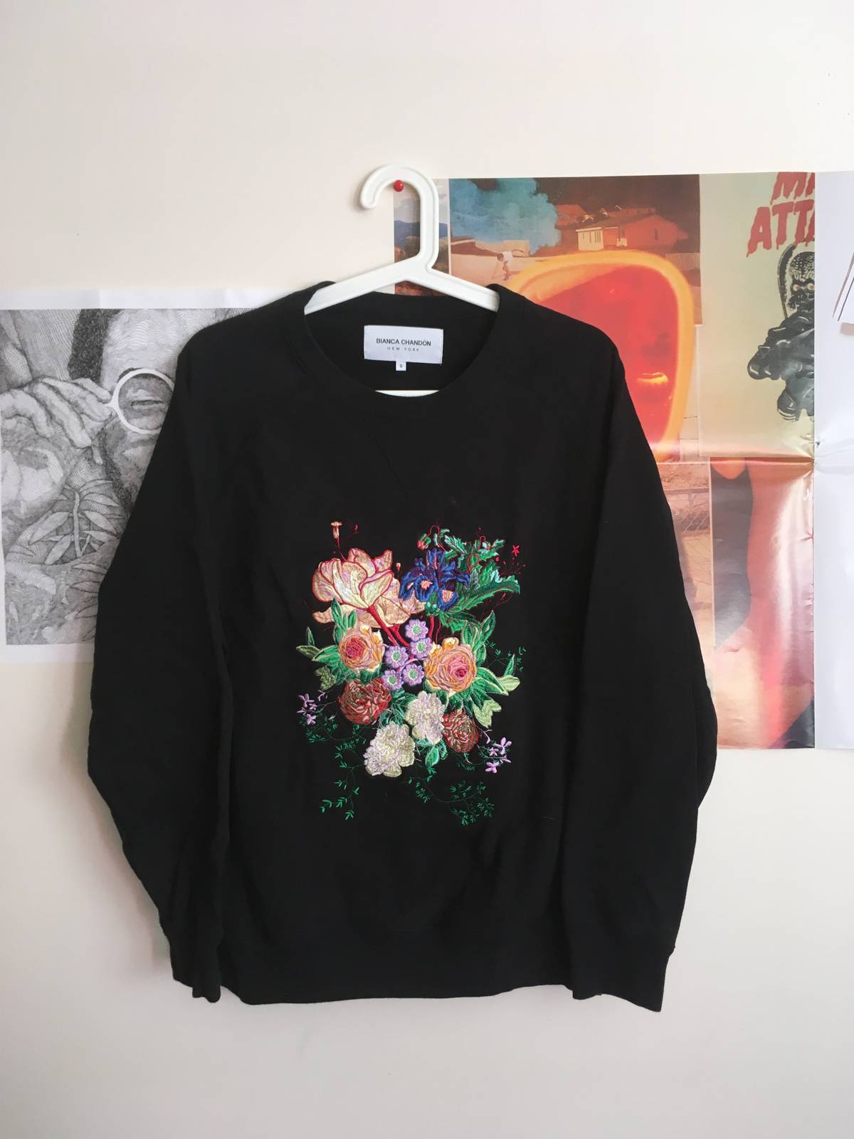 042b8be0fc7639 Bianca Chandon Bianca Chandon Embroidered Floral Crewneck Size s -  Sweatshirts   Hoodies for Sale - Grailed