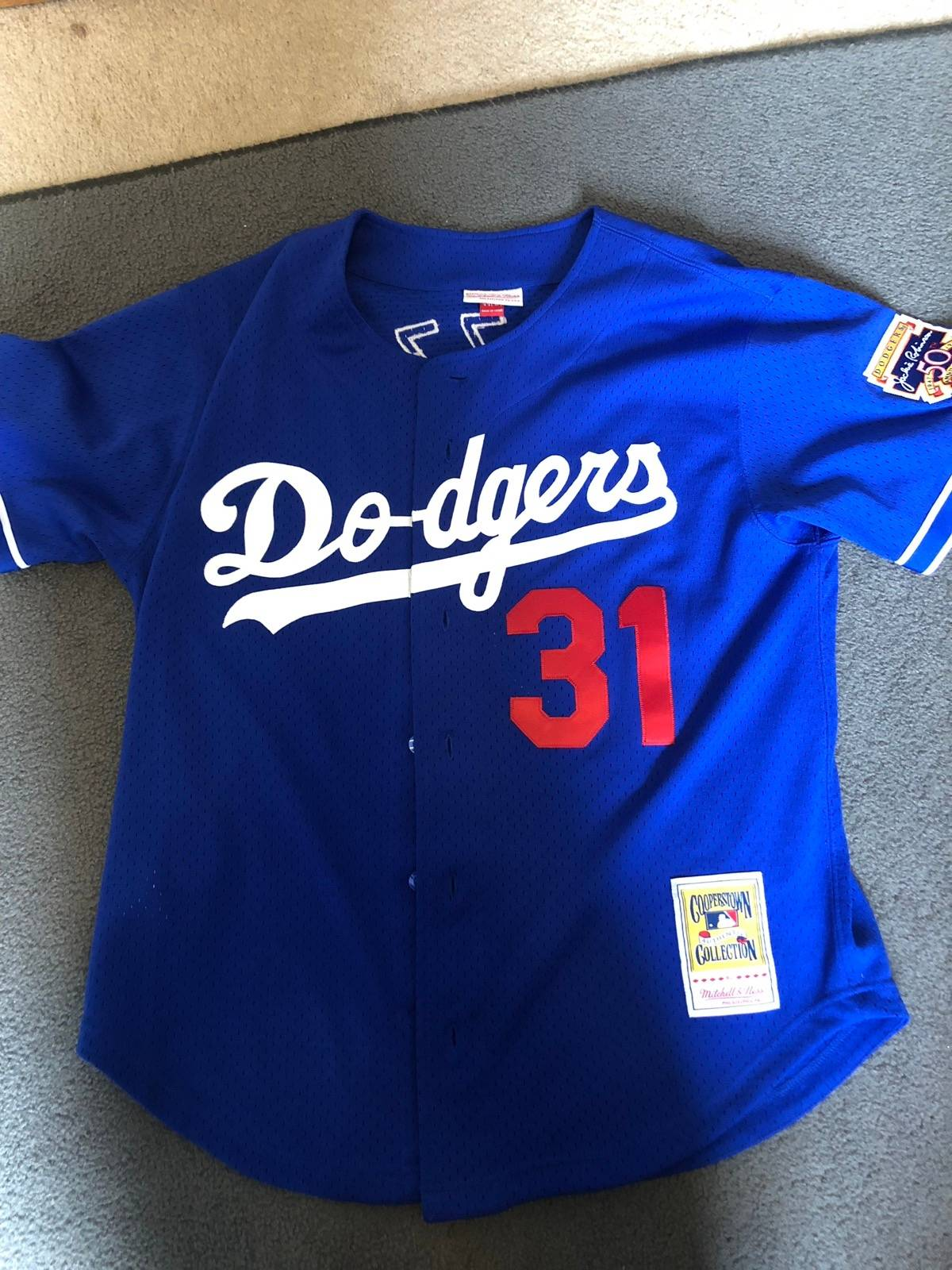 check out 773a0 0aaab Mitchell & Ness Mitchell And Ness Mike Piazza La Dodgers Authentic Bp  Jersey Size L $60