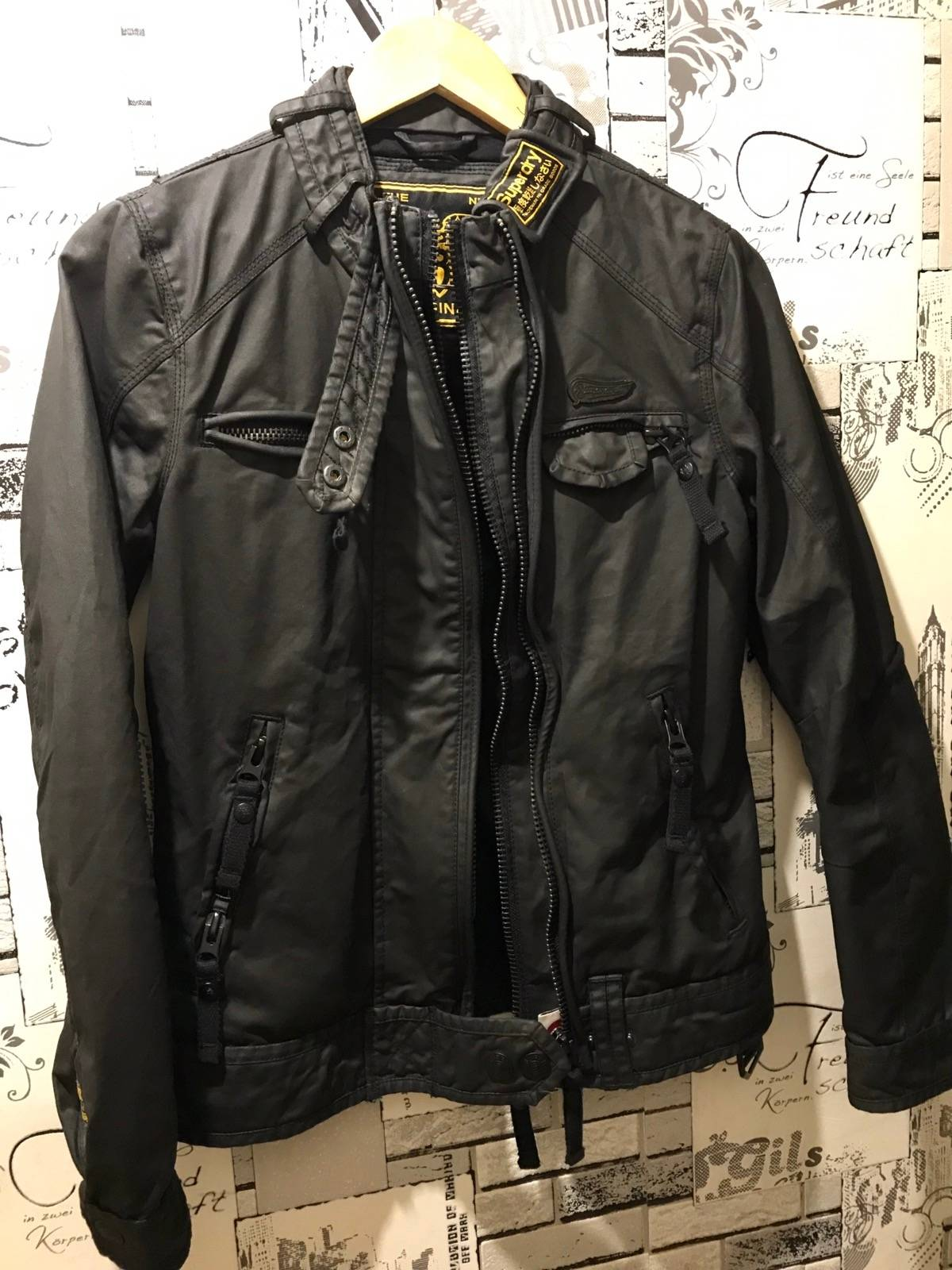 more photos e0bd0 b9065 Japanese Brand × Superdry Superdry Biker Style Waterproof Jacket Size S $88