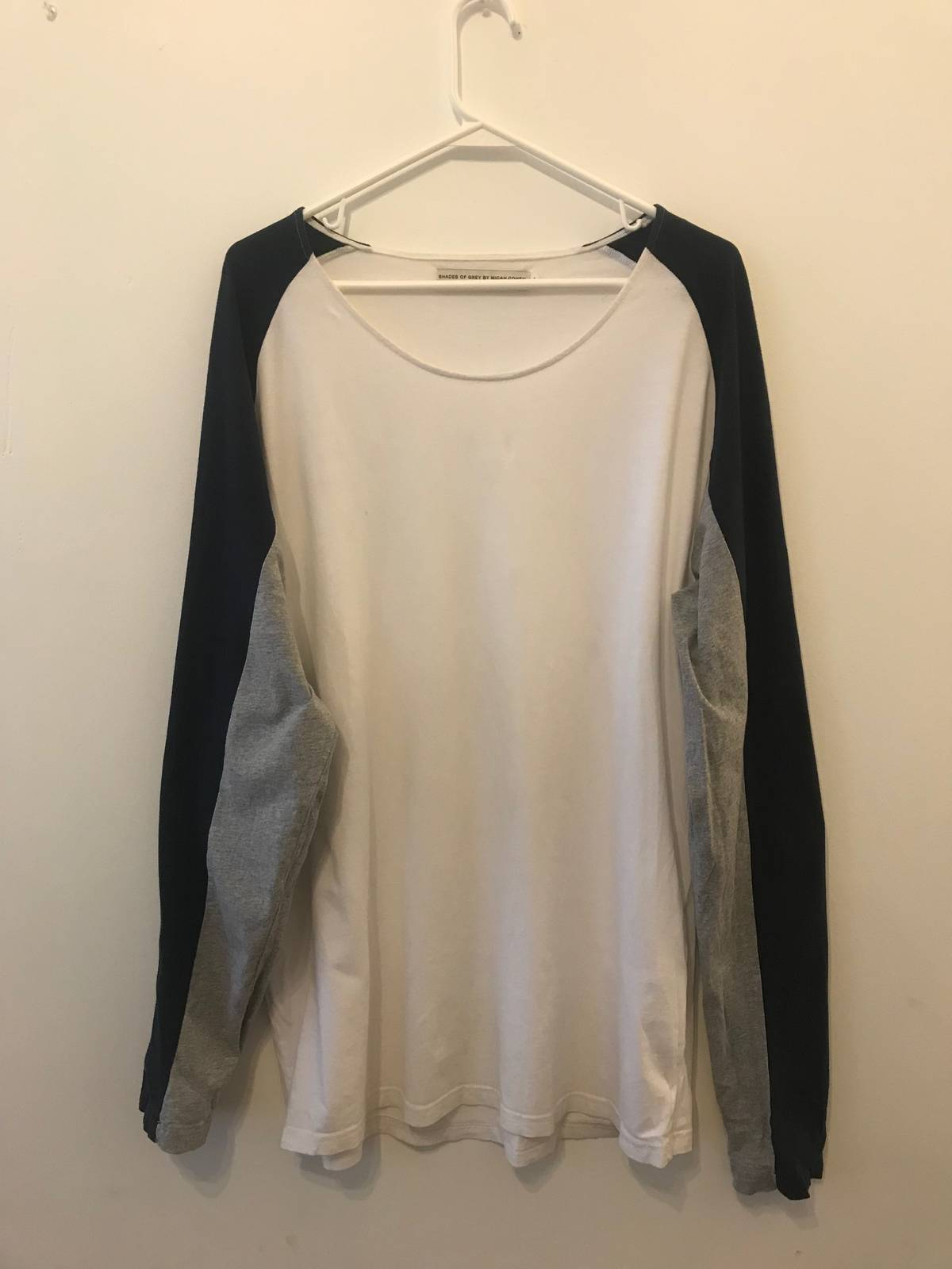 eb059b5ffe3f2 Shades Of Grey Shades Of Grey By Micah Cohen Oversized Color Block Long  Sleeve T-shirt