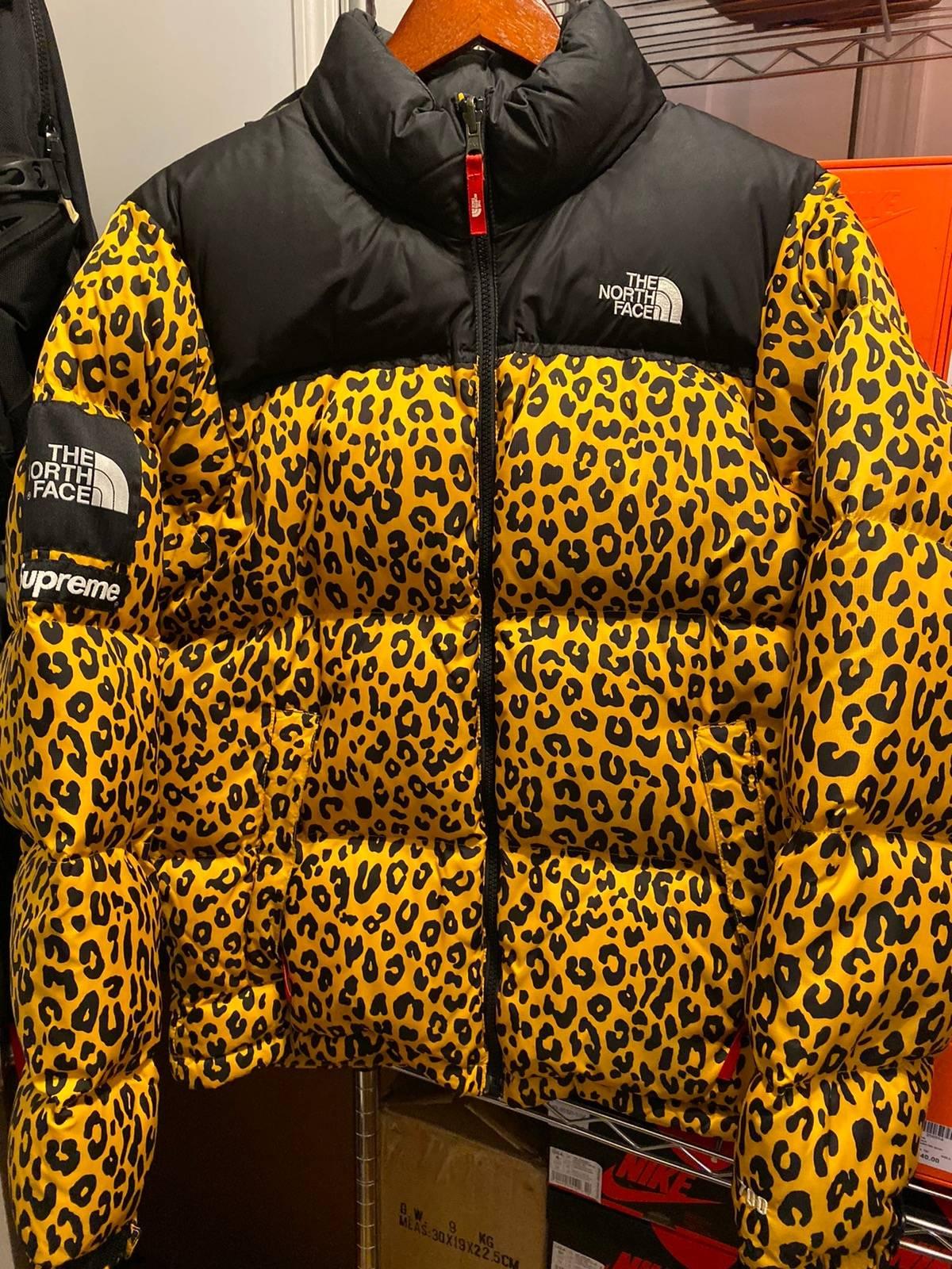 Supreme Supreme The North Face Leopard Nuptse Yellow Medium | Grailed