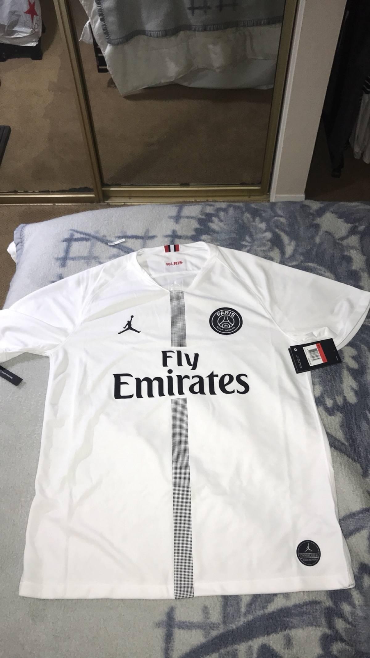 online retailer c36a8 d22fa Nike Nike Jordan Brand Psg Home White Jersey Neymar Jr. Messi Supreme Bape  Palace Kith Size L $81