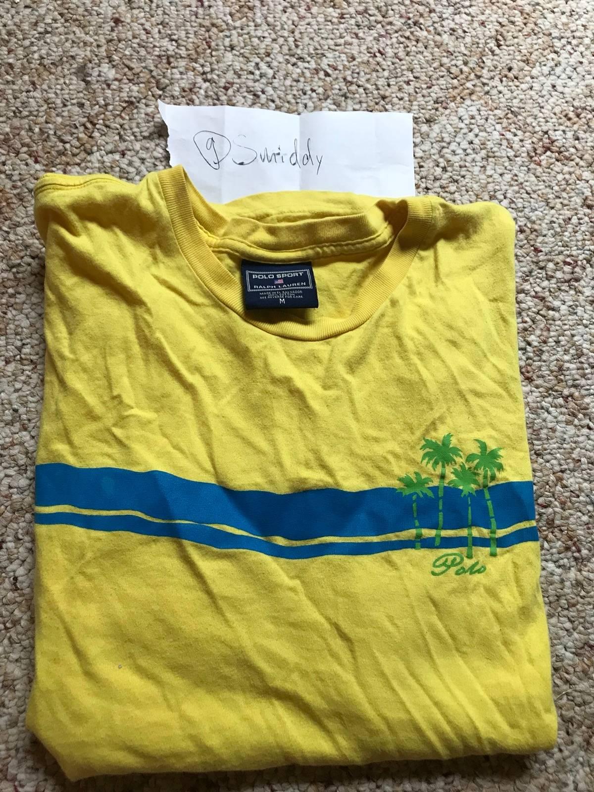 Polo Ralph Lauren Rare Vintage Polo Sport Yellow Tee Shirt Medium ... 7d62420f6350b