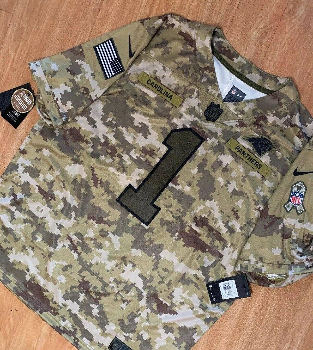 best website 53a08 203a4 Nfl × Nike Cam Newton Carolina Panthers Salute To Service Xxl Size Xxl $110
