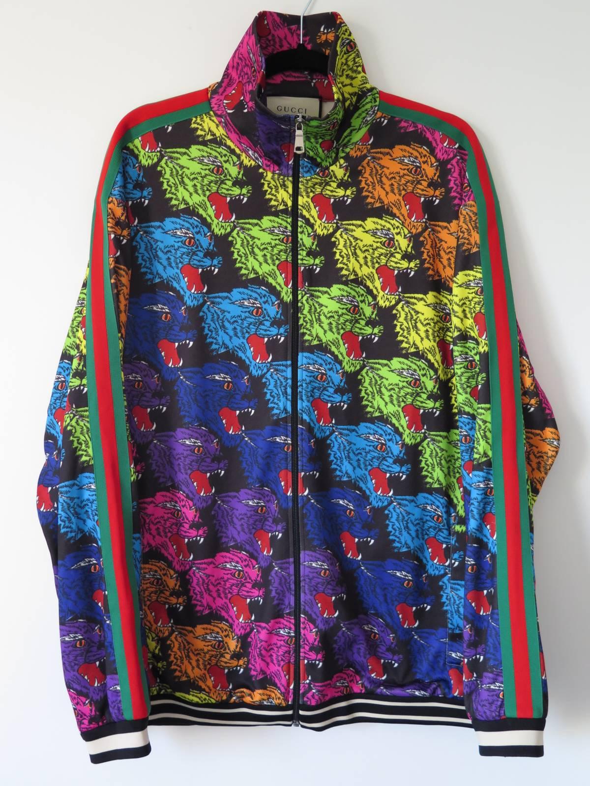 fa71ba9d8c9 Gucci ×. Gucci Angry Tiger printed track jacket