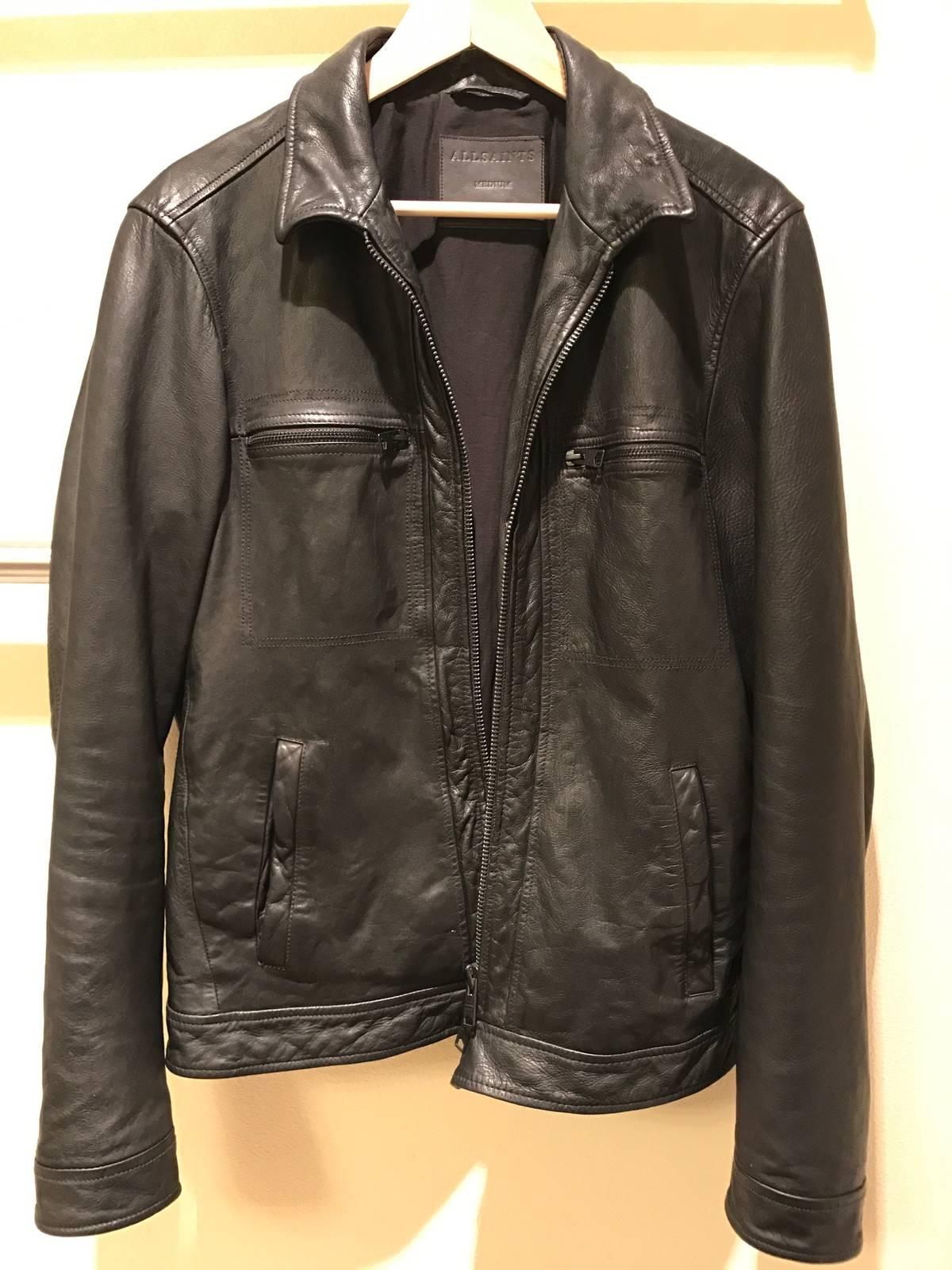 cca778068 Allsaints Lark Leather Jacket (Black) Size M $200