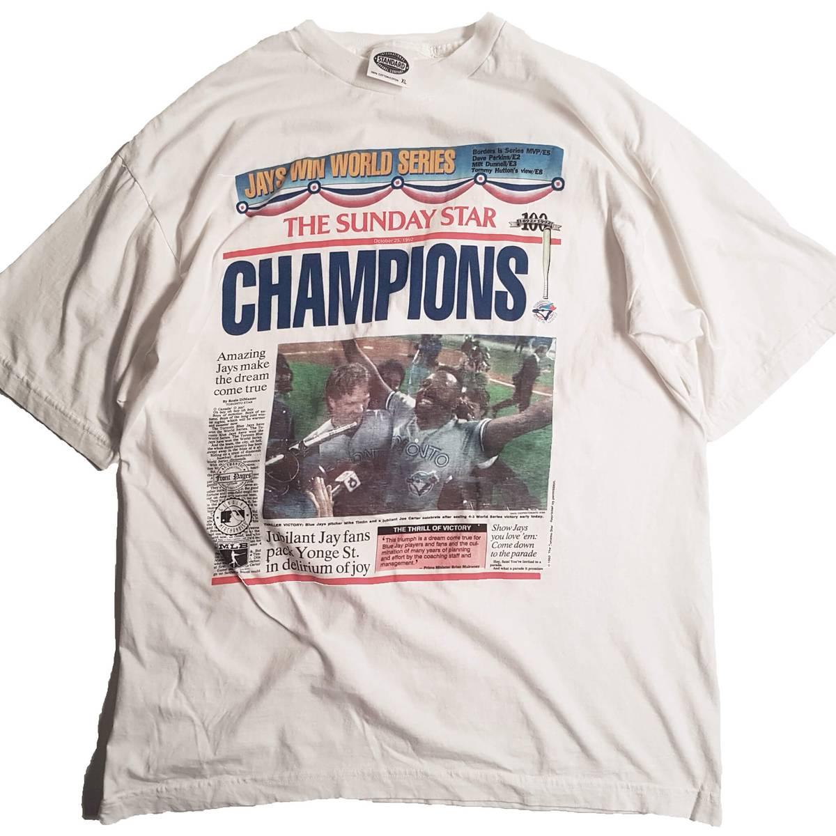 207edcb52a Vintage Vintage 1992 Blue Jays Toronto Star T Shirt Size Xl $33