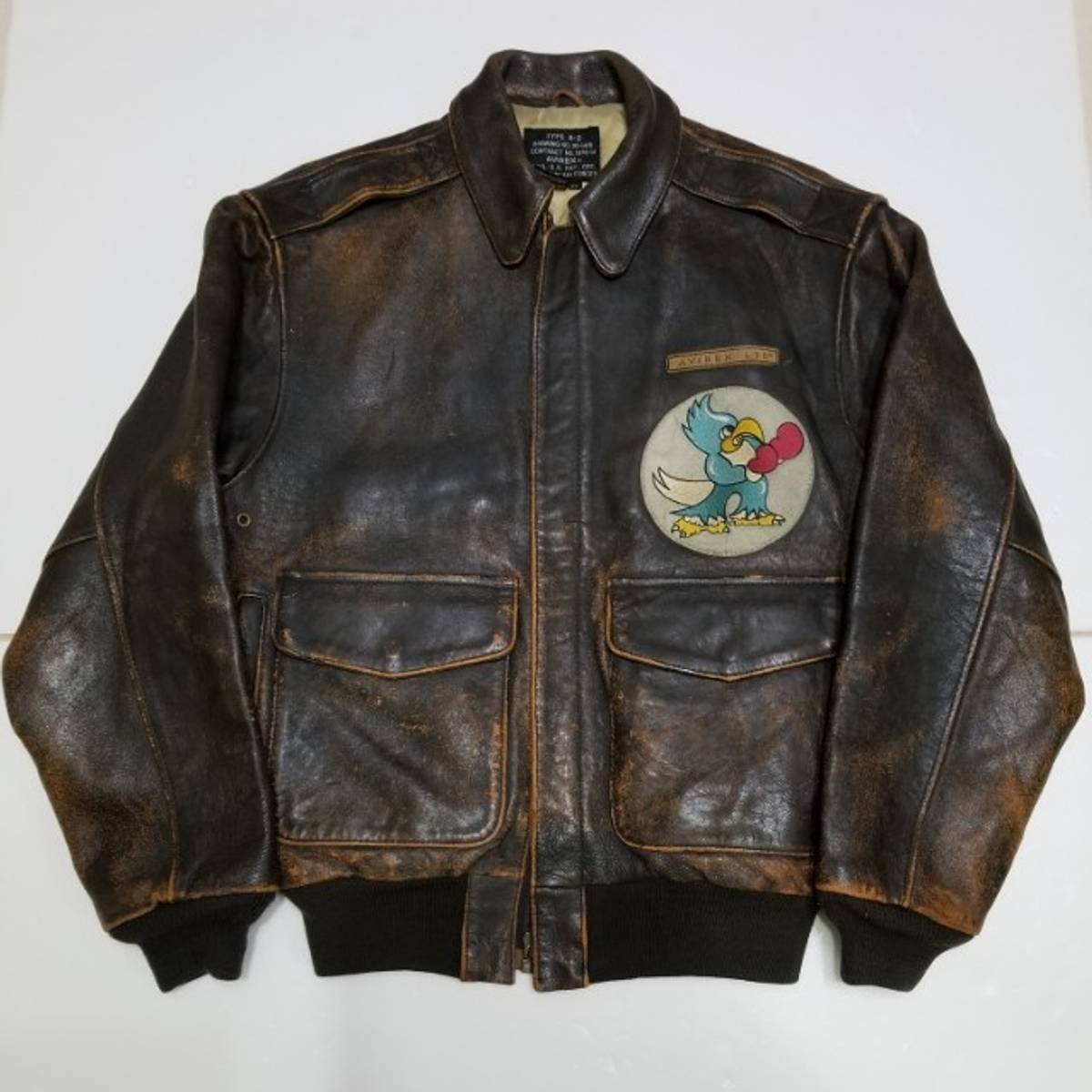 2f65913ed41 Avirex A-2 (A2) Eagle Squadron Leather Flight Jacket Size xs - Bombers for  Sale - Grailed
