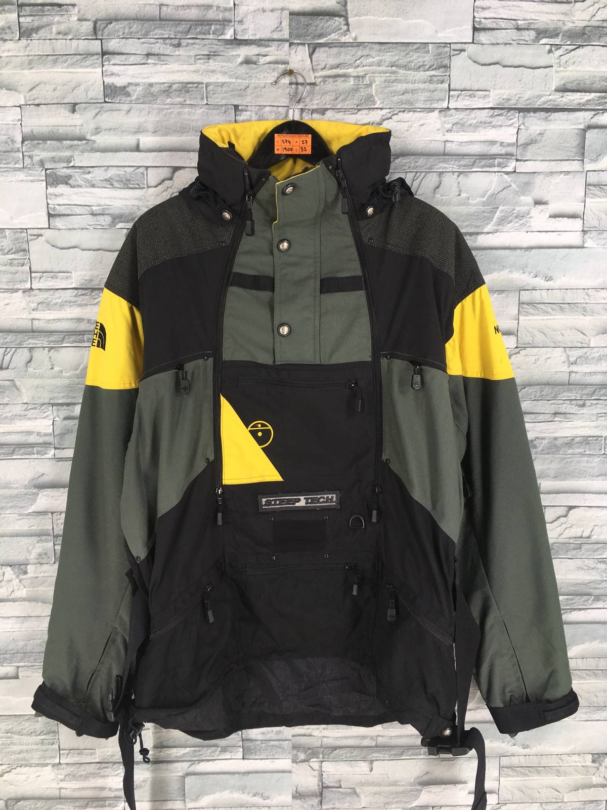 628fab260 The North Face × Vintage Vintage The North Face Jacket Mens X Large North  Face Steep Tech Ski Wear Multicolour Jacket Hoodie 90s Skiing Hooded Jacket  ...