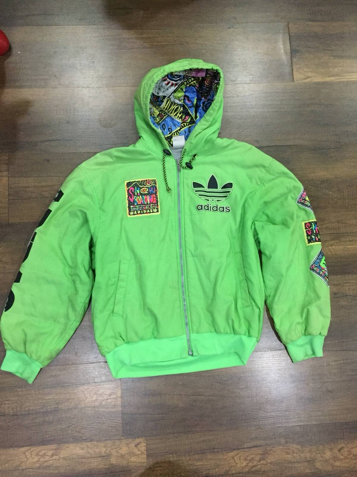 90s Vintage Mens ADIDAS ORIGINALS Pullover Jacket A6315