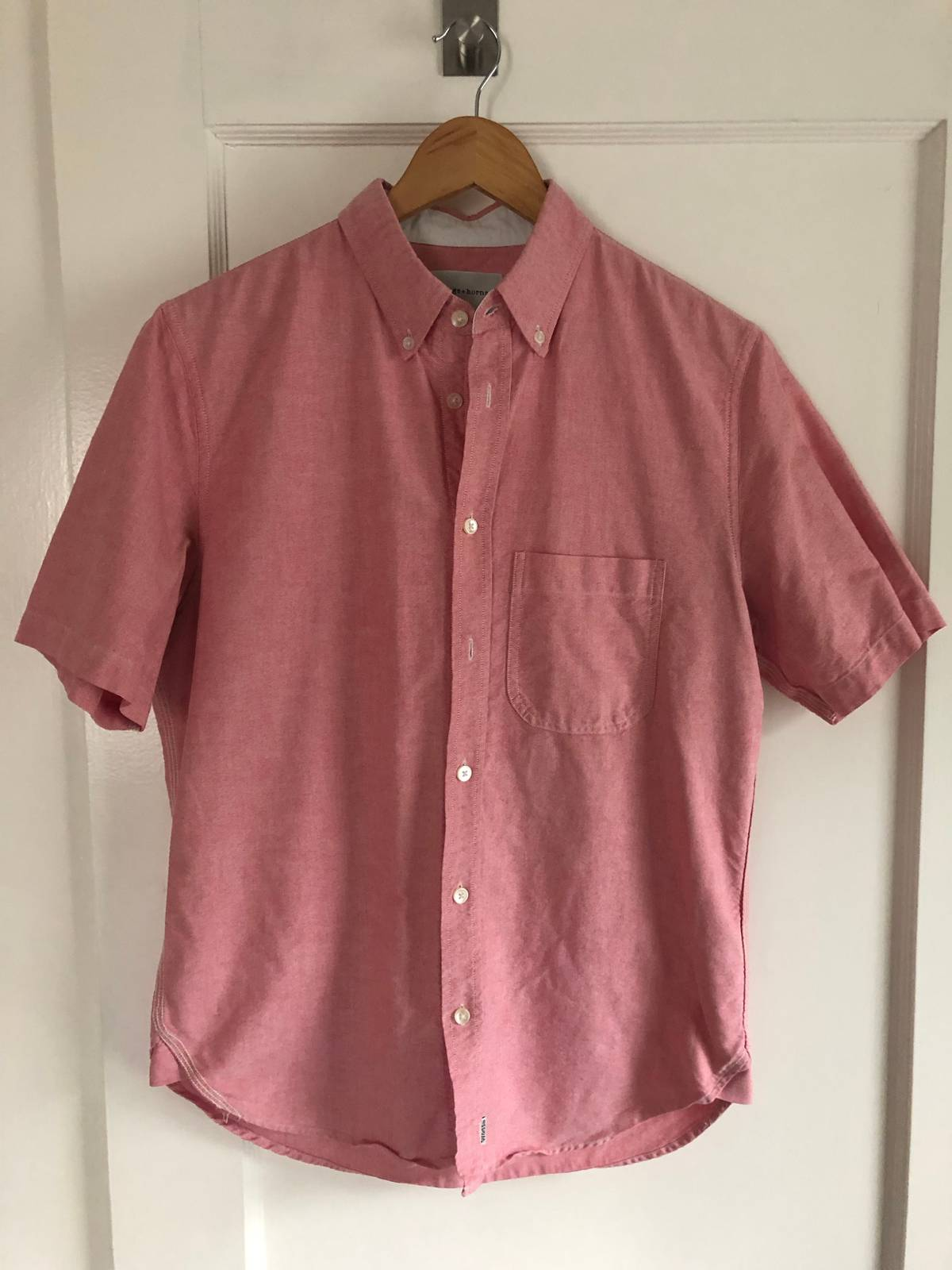 Wings Horns Pink Chambray Shirt Size M Shirts Button Ups For