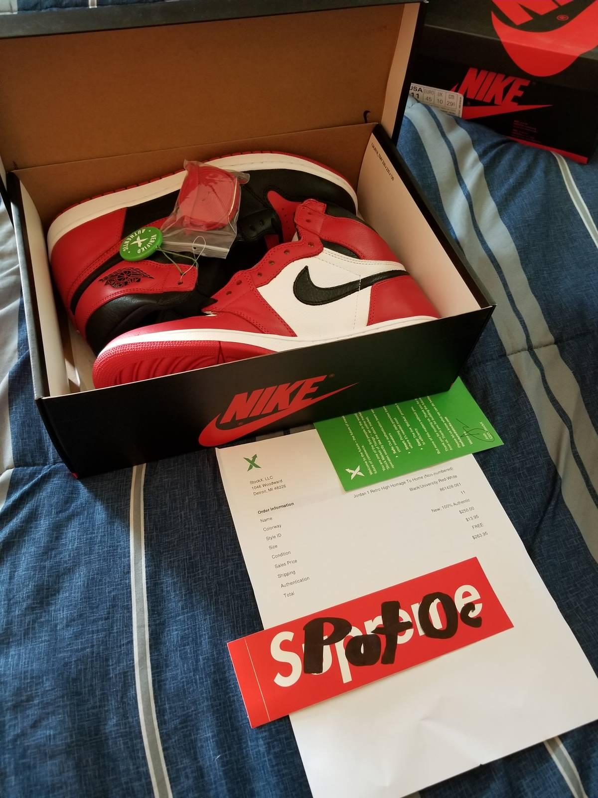 finest selection 7939b 5a665 Jordan Brand Jordan Retro One High Og Homage To Home Size 11 Ds Og All Size  11 $300