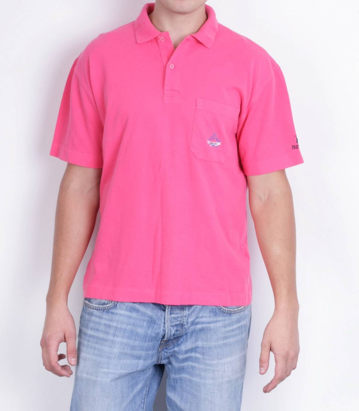 Burberry Burberrys Mens 6 Xl Polo Shirt Pink Aloha Golf Short Sleeve