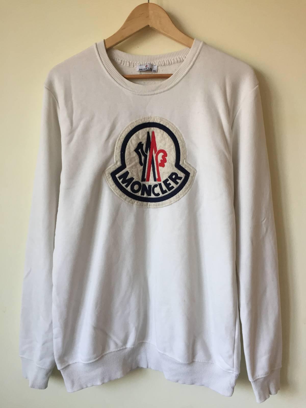 Wunderbar Burberry Tuch Foto Von Moncler Big Logo White Sweatshirt Size Xl