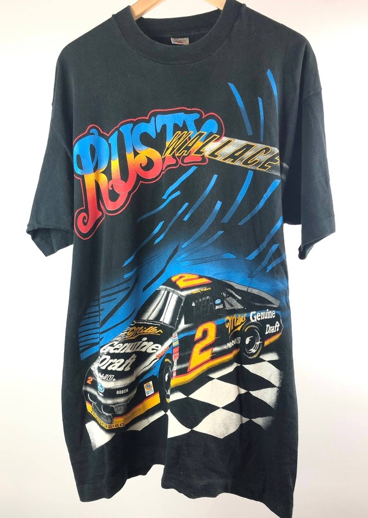 Rusty Wallace Ford >> Vintage 1994 Rusty Wallace Ford Thunderbird Nascar Mgd Race Car Size Xl 28