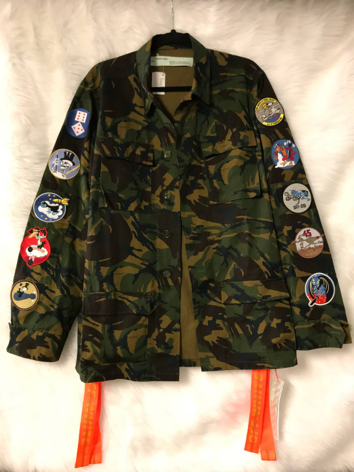 a3b810b33277 Off-White ×. Off-White Camo Field Jacket With Patches