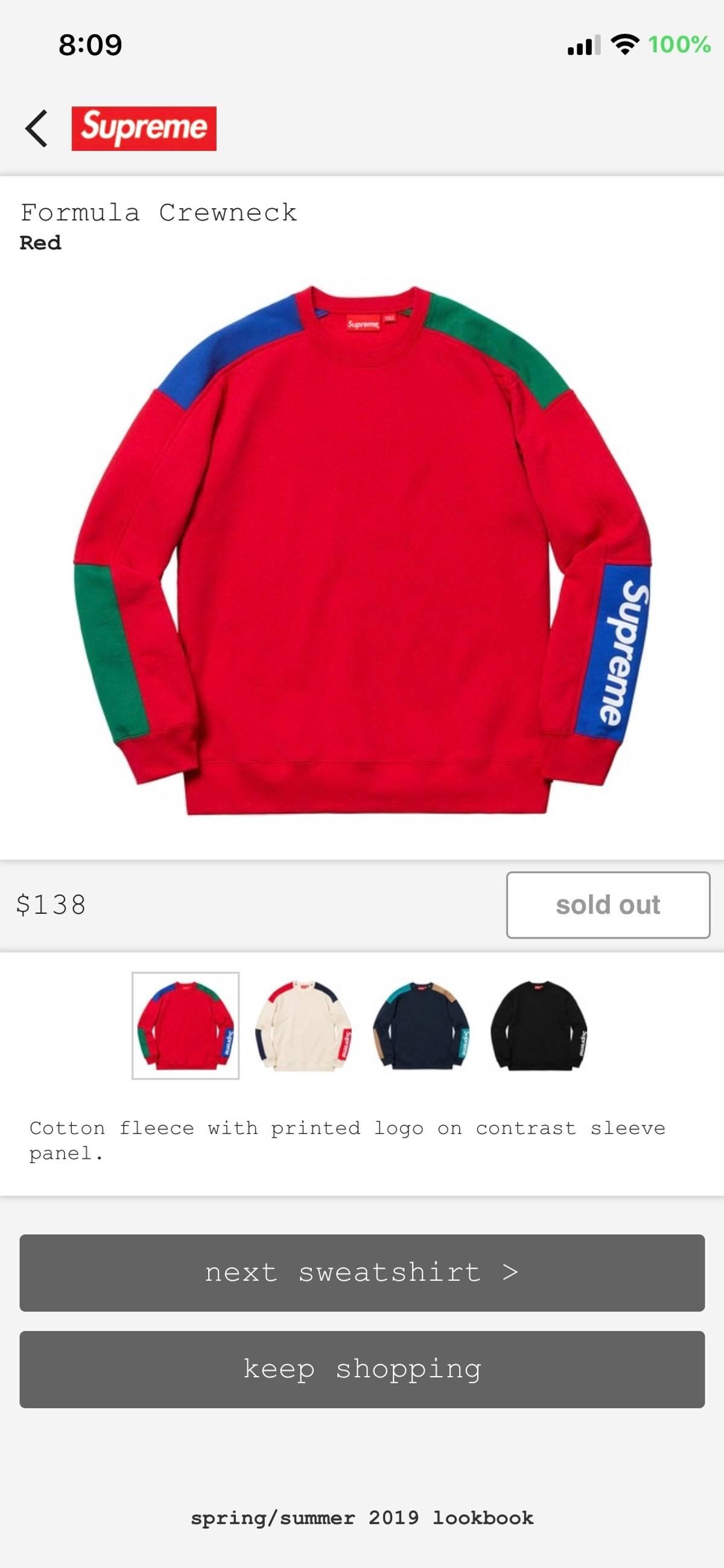 a4557ff6ecfa Supreme Supreme formula crewneck Red M Size m - Long Sleeve T-Shirts for  Sale - Grailed