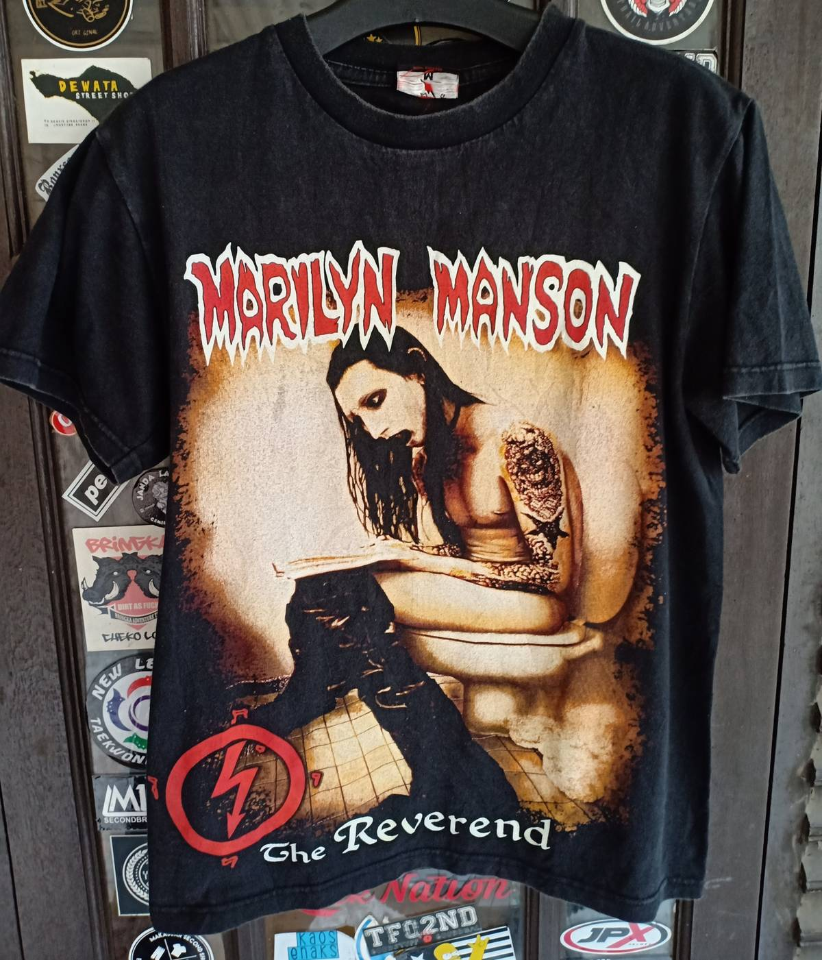 Marilyn Manson Vintage The Reverendt Shirt Size M Kaos Dior Short Sleeve T Shirts For Sale Grailed