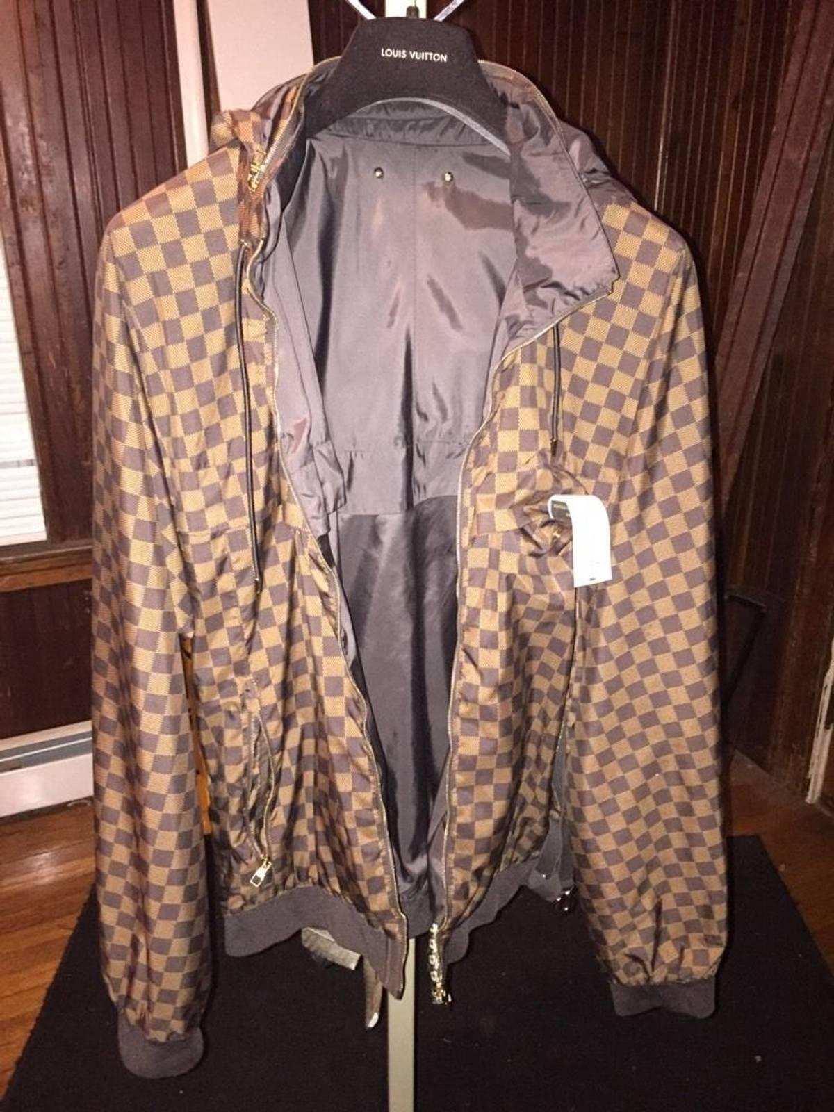 Super Louis Vuitton Brown Damier Light Jacket   Grailed HH-73