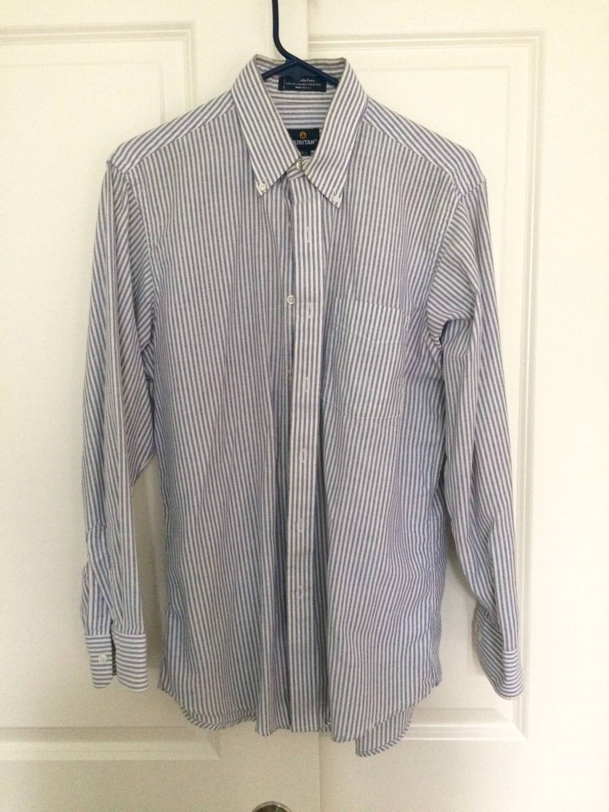 Puritan Striped Button Up Size M Shirts Button Ups For Sale