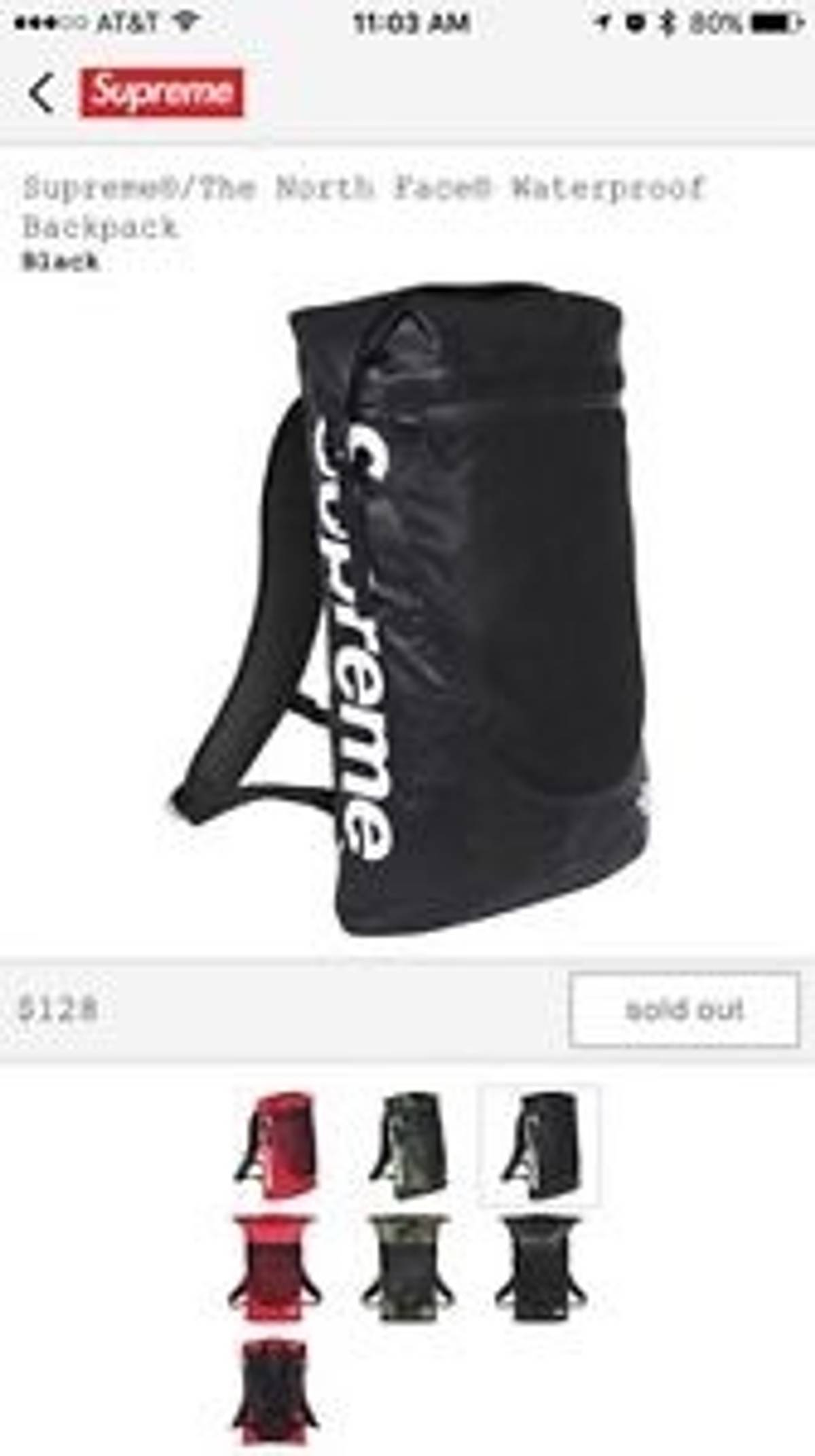 60639eb53 Supreme Ss 17 North Face X Supreme Waterproof Backpack Size One Size $130