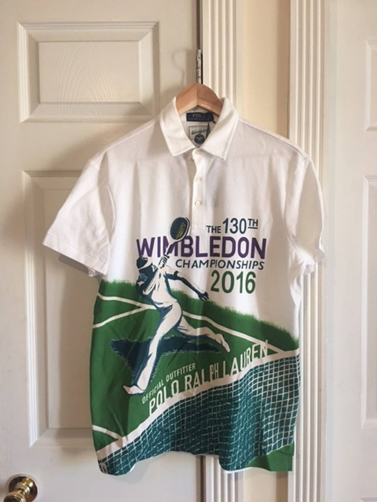 Polo Ralph Lauren All Over Wimbledon Print Polo Shirt Size M Polos