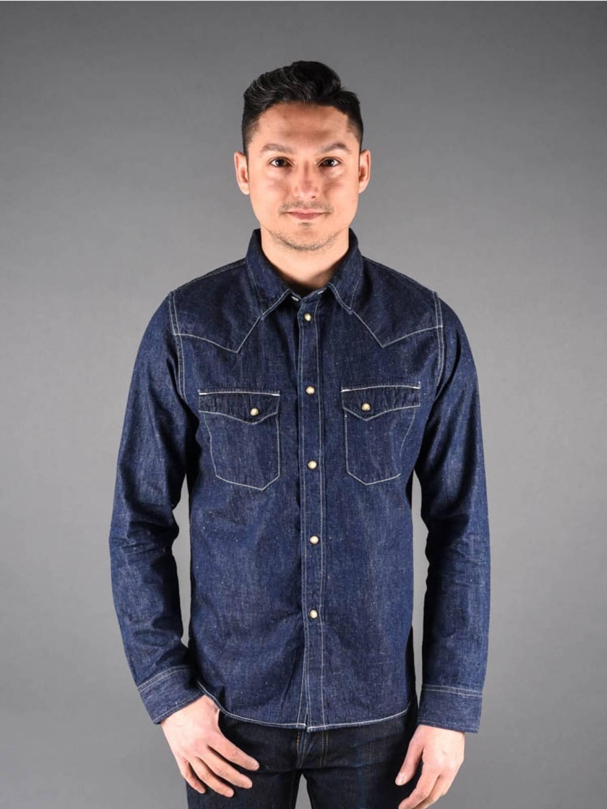 e807314901 Pure Blue Japan 5 Oz. Knub Selvedge Western Shirt Size s - Shirts (Button  Ups) for Sale - Grailed