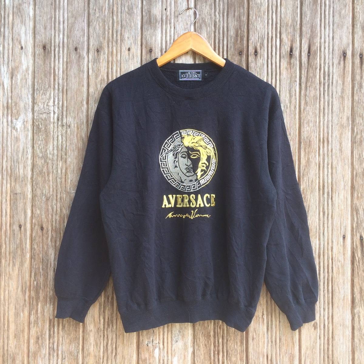 Versace Rare!! Vintage A. Versace Embroidery Gold Logo Nice Design Medium  size Size m - Sweatshirts   Hoodies for Sale - Grailed 8e7ff652a