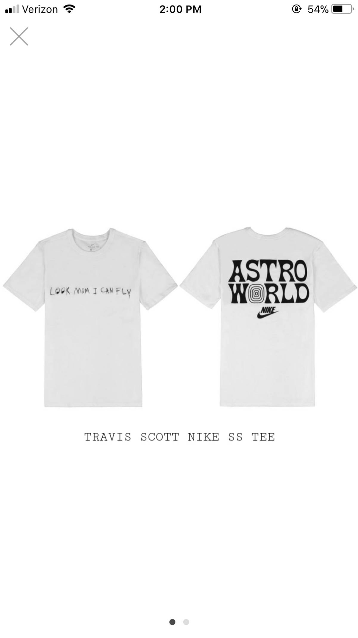 0c9ad163 Nike Travis Scott Nike SS Tee 4 Astroworld Large Size l - Short ...