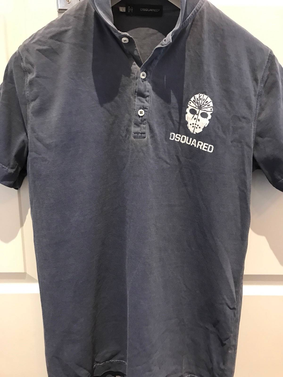 Dsquared2 Short Sleeve Polo Style Shirt Size L Short Sleeve T
