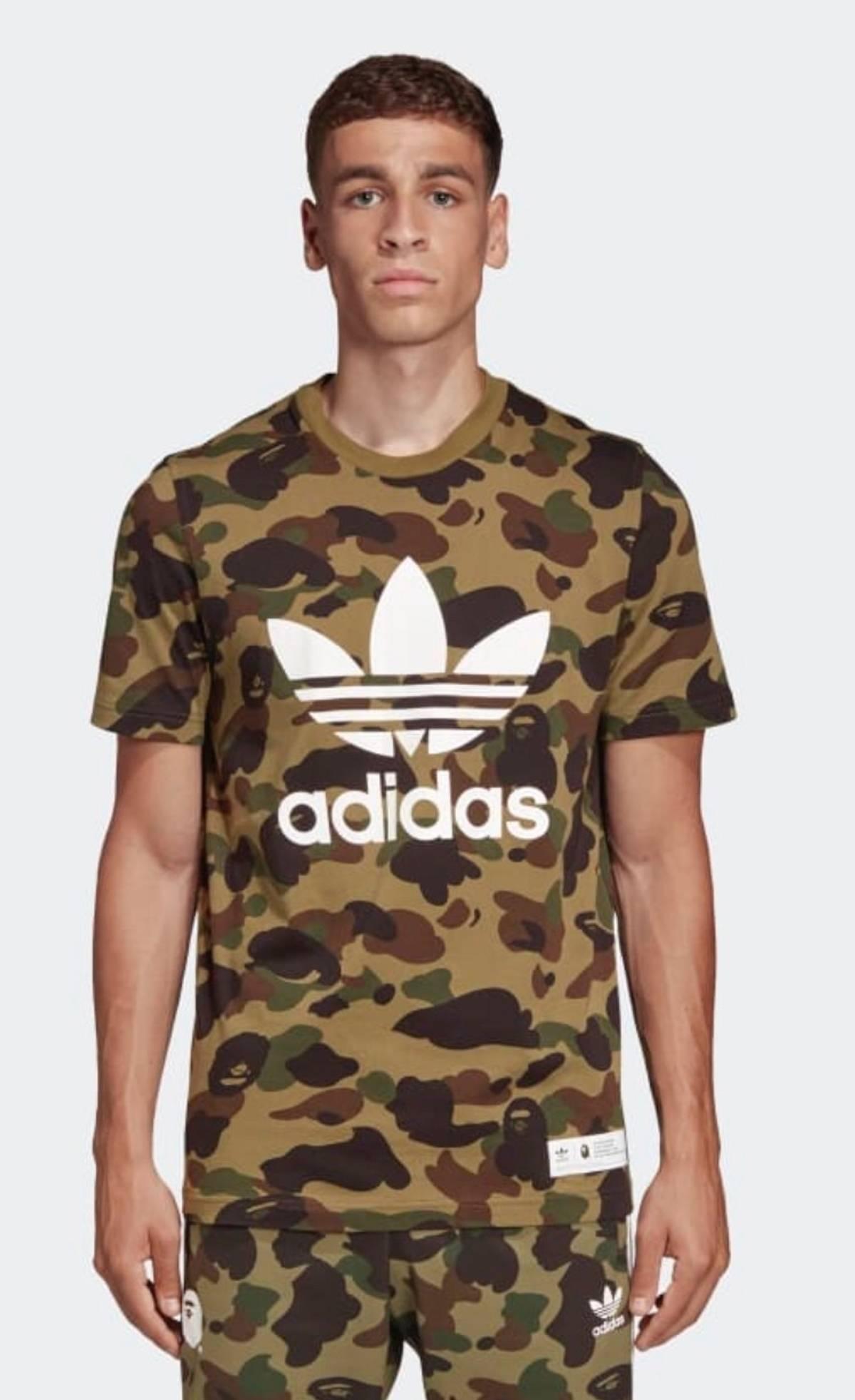 super popular 004a5 9be4d Adidas × Bal × Bape Bape X Adidas Tee Shirt Green (July 2018) Size M $115