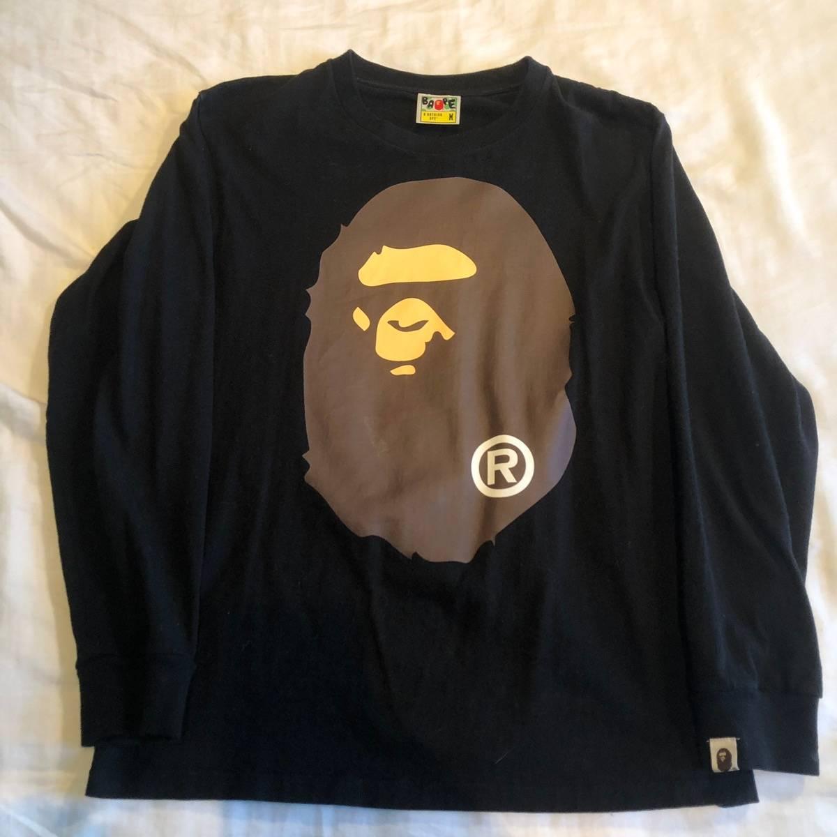 7ad31fbb Bape Bape By A Bathing Ape Head Long Sleeve Shirt | Grailed