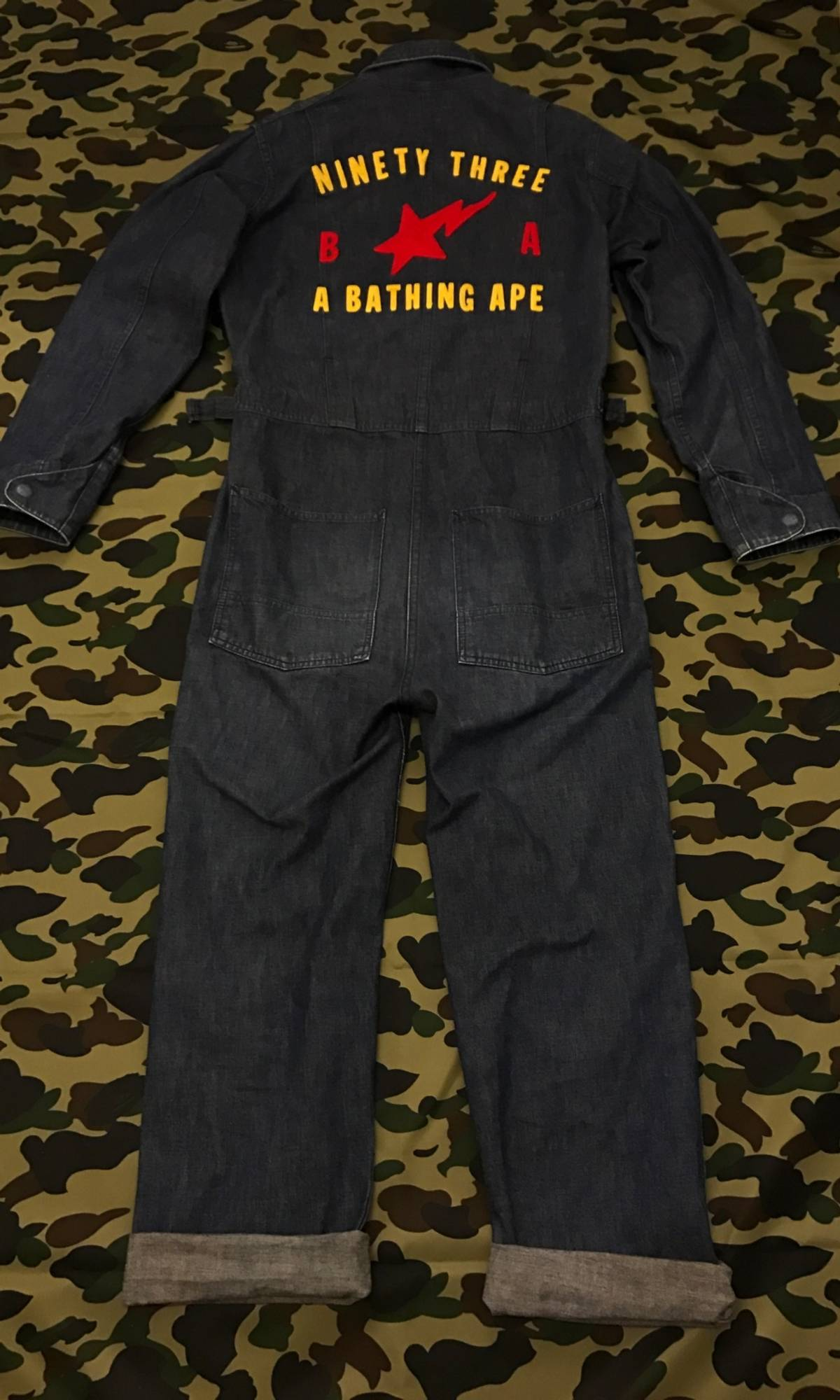 0a8ca0877f90 Bape A BATHING APE - Denim overall Size 32 - Overalls   Jumpsuits for Sale  - Grailed
