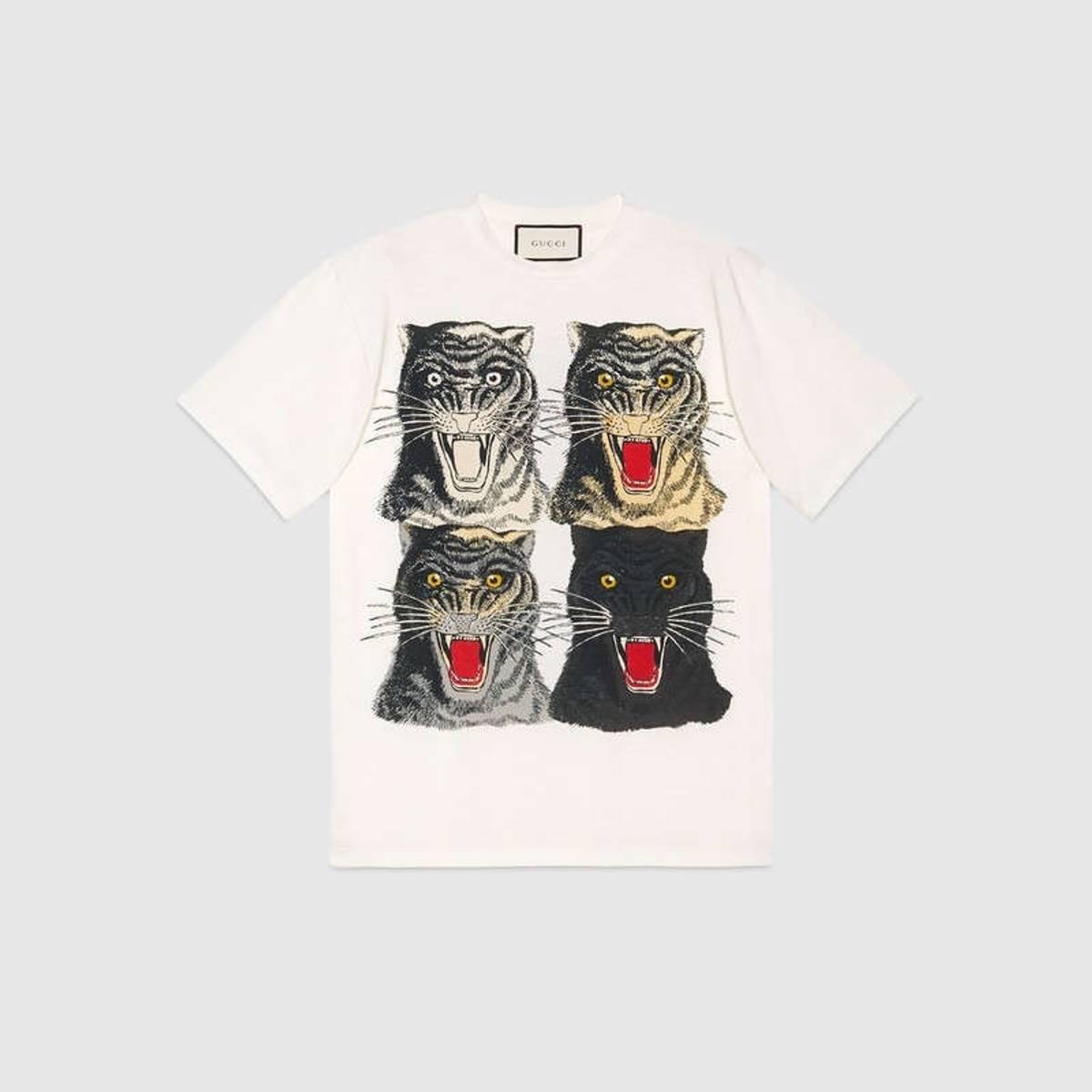 c242075b7 Gucci ×. Gucci Tiger Face Tshirt. Size: US M / EU 48-50 / 2