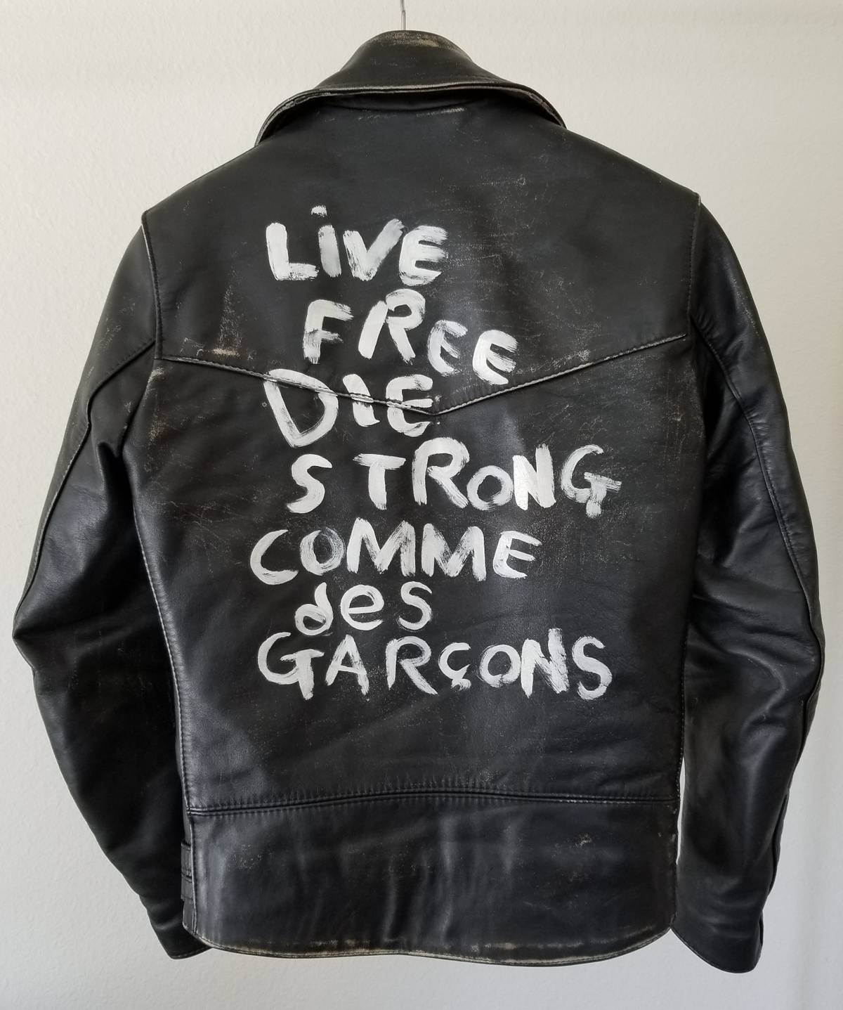 Comme des garcons leather jacket