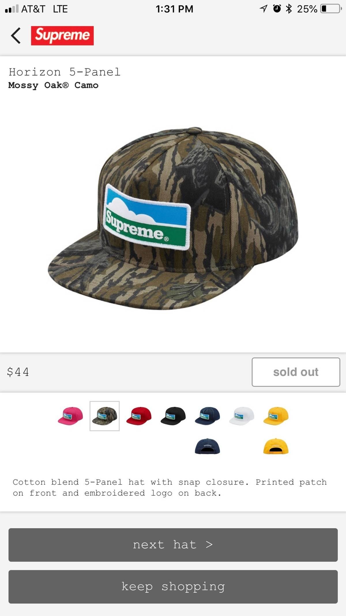 c9e89e47 Supreme Supreme Horizon 5 Panel Hat Camo/mossy Oak | Grailed