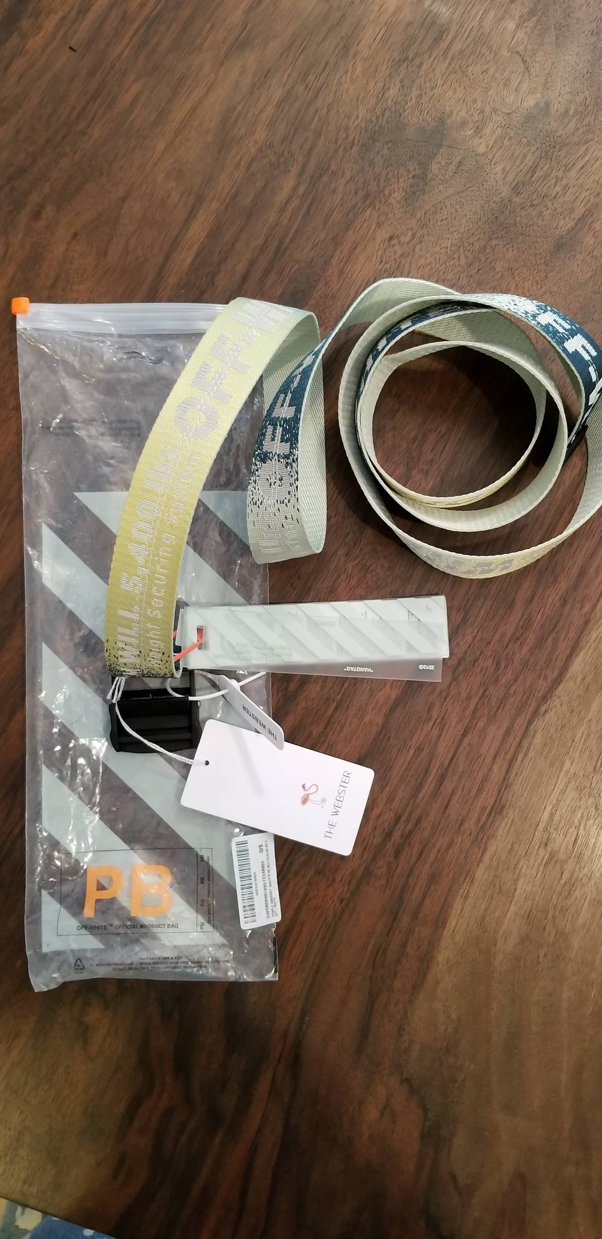 e35e55c9f3a Off-White × Webster ×. The Webster x Off White exclusive airbrush industrial  belt ...