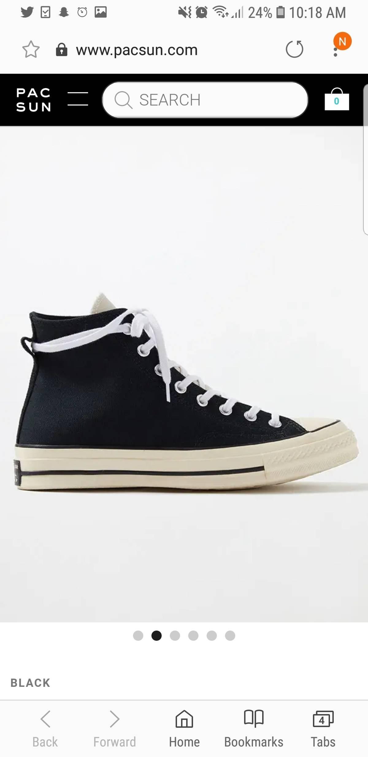 d82ec9ae39ee9f Converse Fear Of God Essentials x Converse Chuck 70 High Top Shoes ...