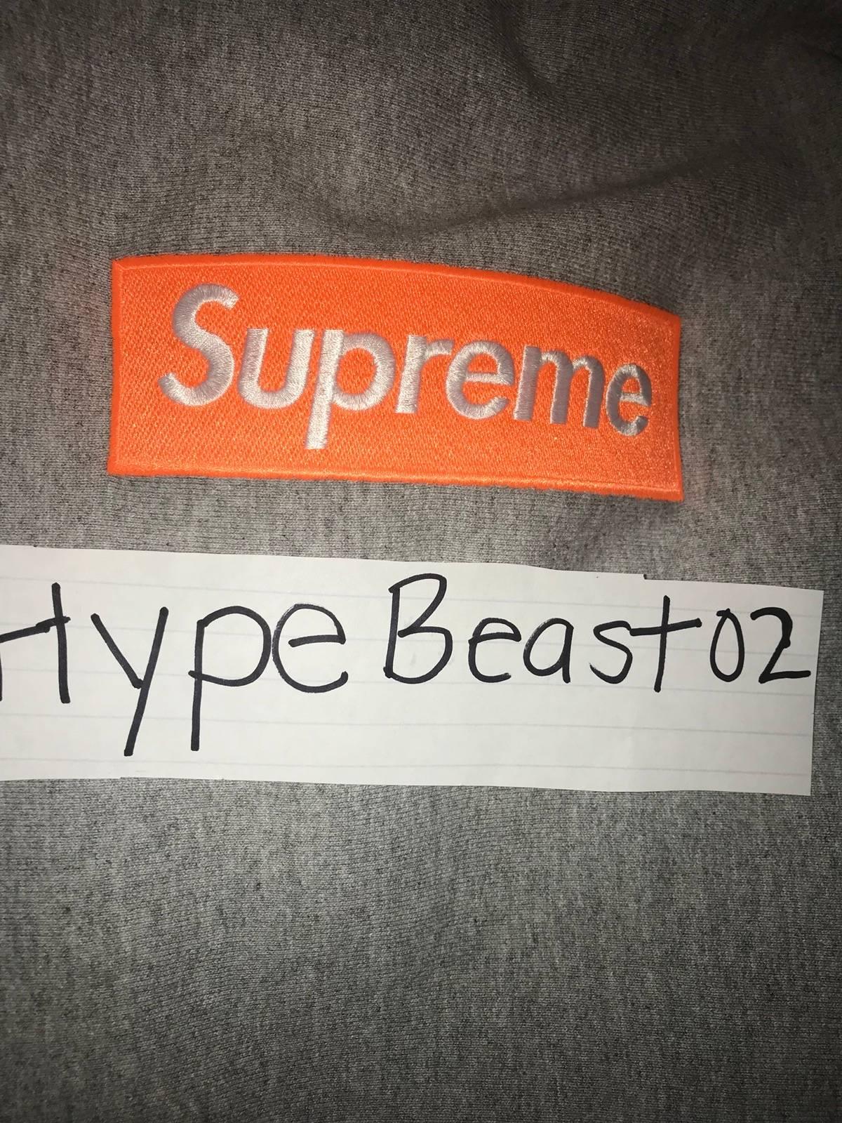 8e6d7c94 Supreme Supreme Orange Grey Box Logo Hoodie Fw17 | Grailed