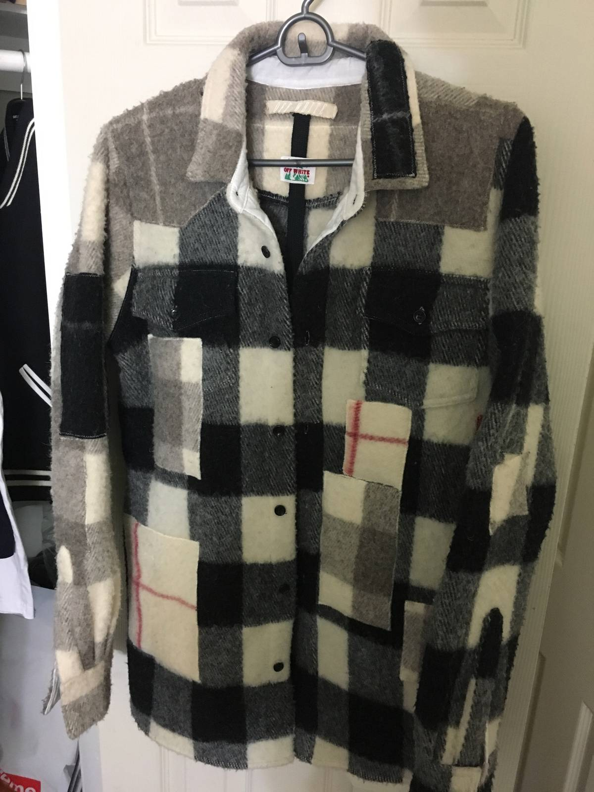 80bba0bc2ea6 Off-White patchwork flannel oversized sz M Size xxs - Shirts (Button Ups)  for Sale - Grailed