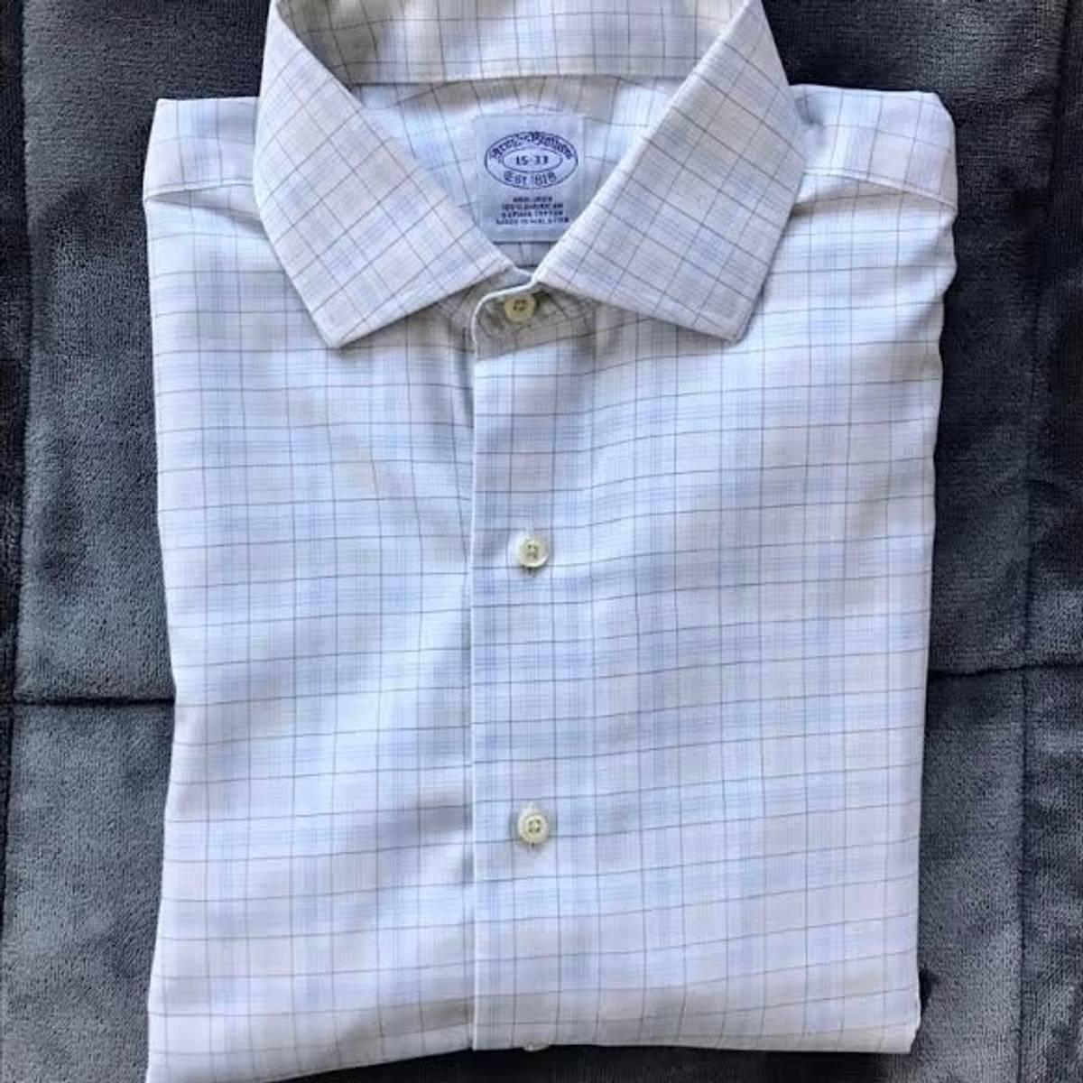Brooks Brothers Purple Label Non Iron Dress Shirt Size 15 33 Size M