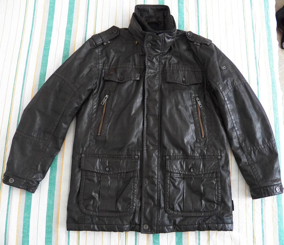 Camel Active × Goretex Camel Active Utility Gtx Jacket Eu 52 UsUk 42 Dark Brown Coated Cotton Size L $153