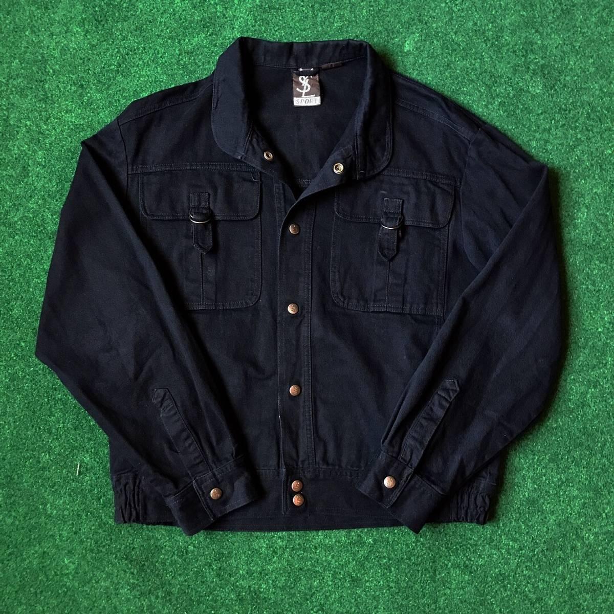 21f345fe0b Saint Laurent Paris × Yves Saint Laurent Vintage 80s Ysl Sport Yves Saint  Laurent Black Denim Jacket Size M $130