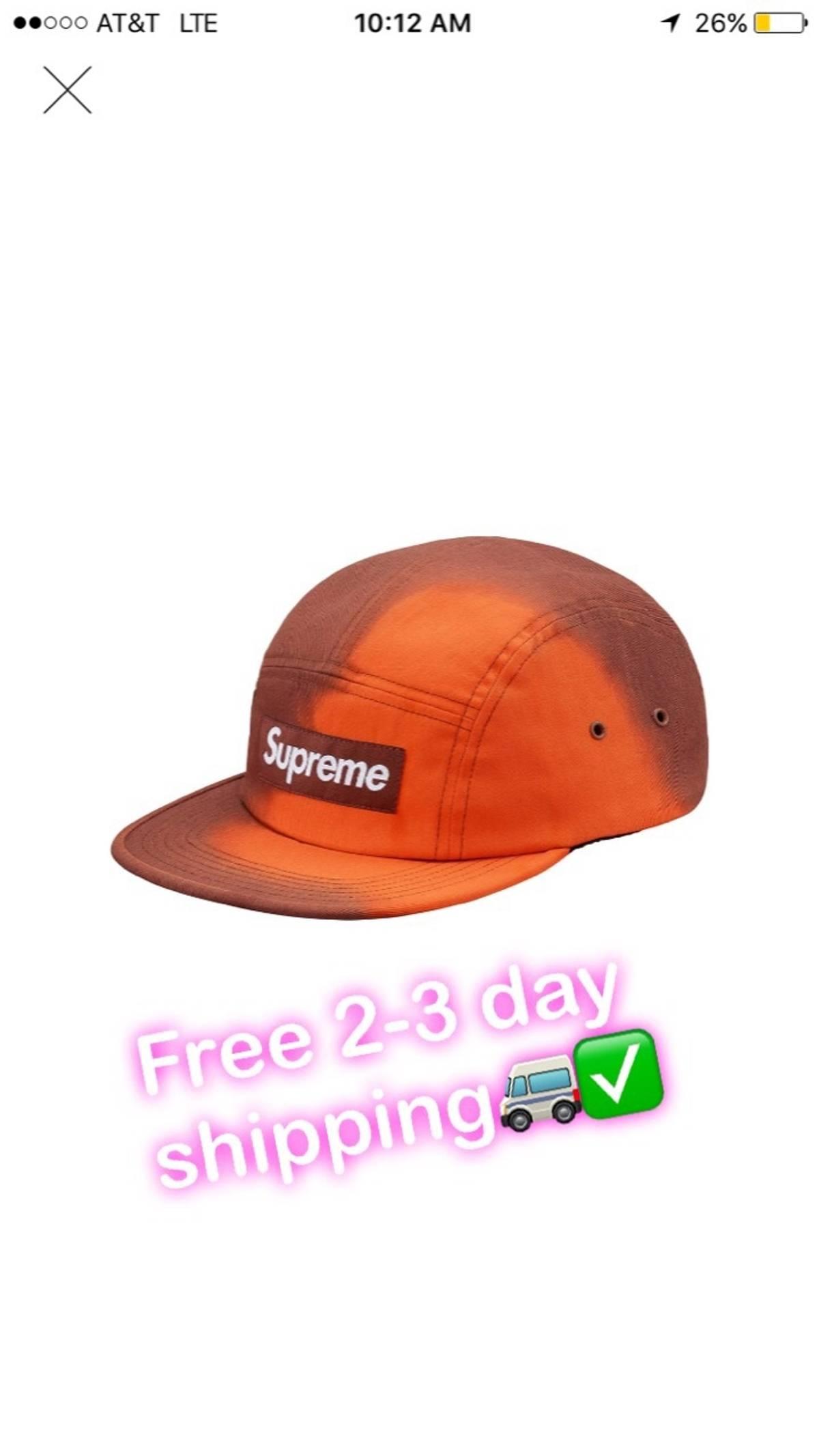 c9c4a1650c7 Supreme Supreme Heat Reactive Brown   Orange Camp Cap Size one size - Hats  for Sale - Grailed