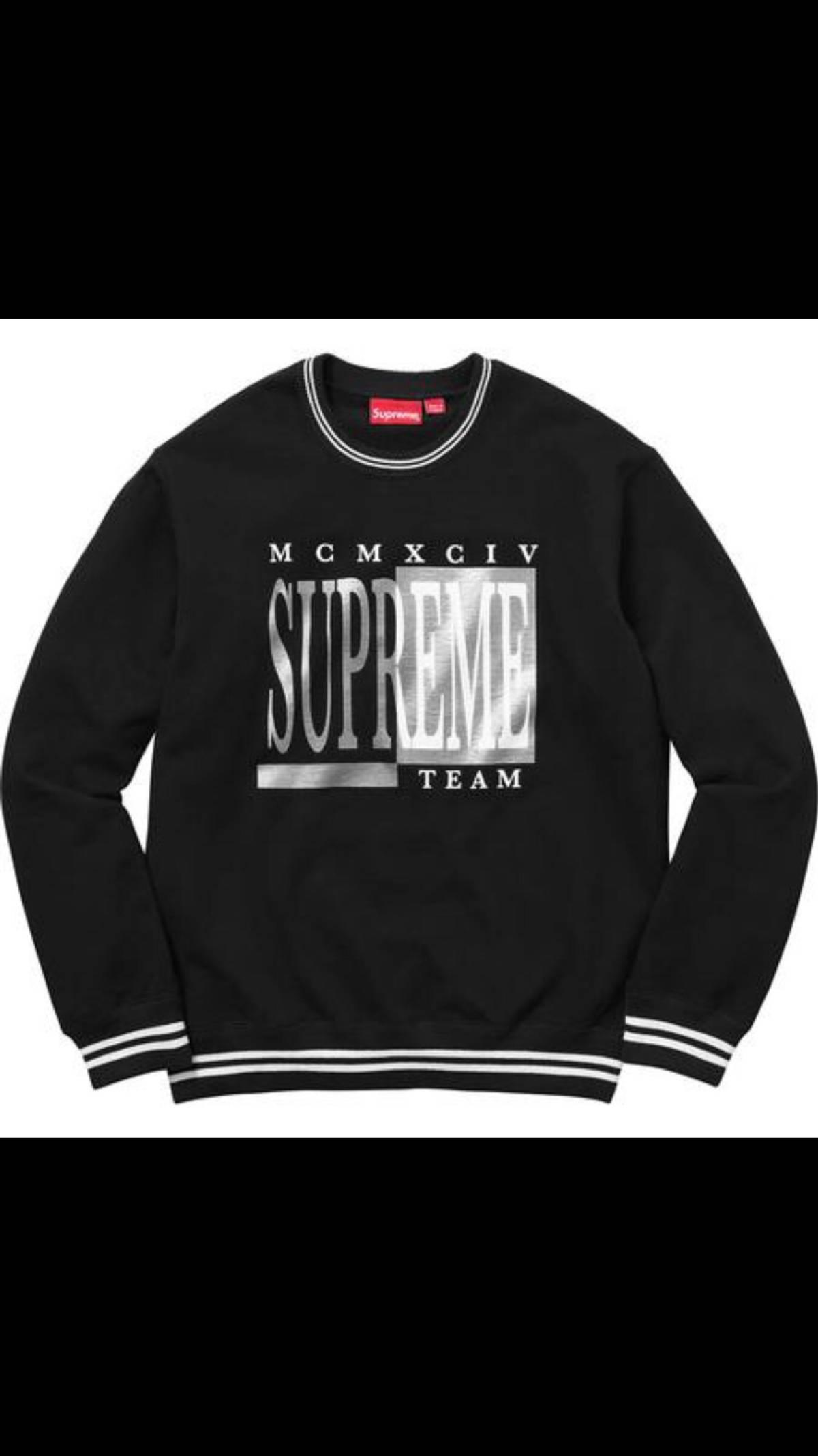 faf1ff14c01b Supreme Supreme Team Crewneck Large Black Sweater Size l - Sweaters ...