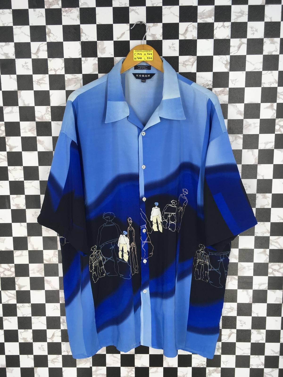 6cb76f1c25a50d Vintage Button Up Polyester Shirt Men Xxlarge Vintage Pop Art Hip ...
