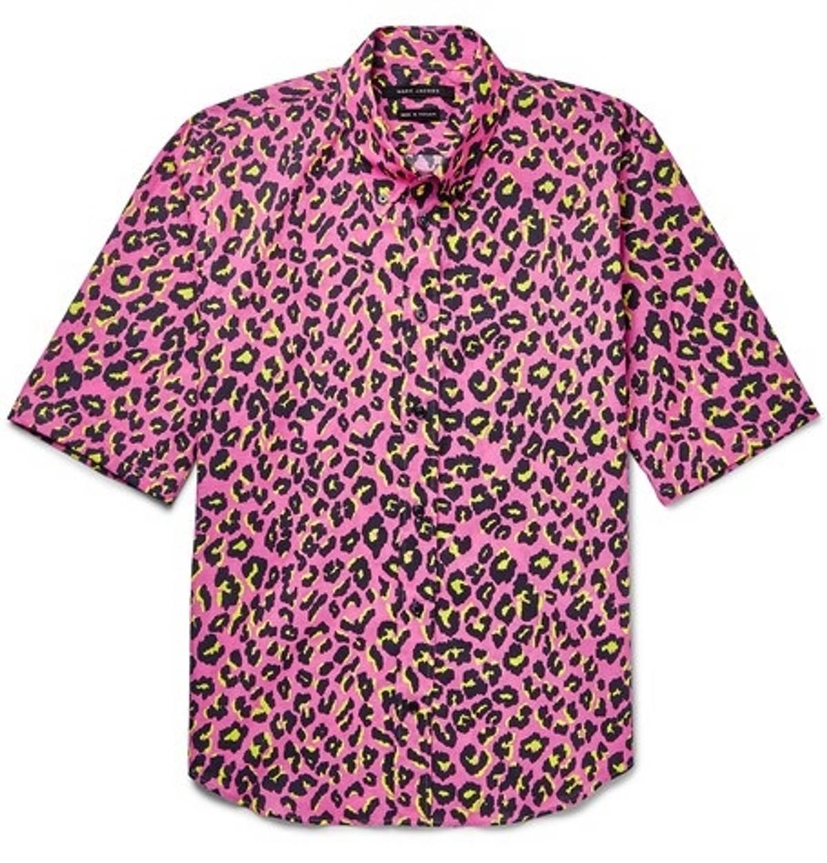 Marc Jacobs Collection Pink Leopard Print Shirt Size S Shirts