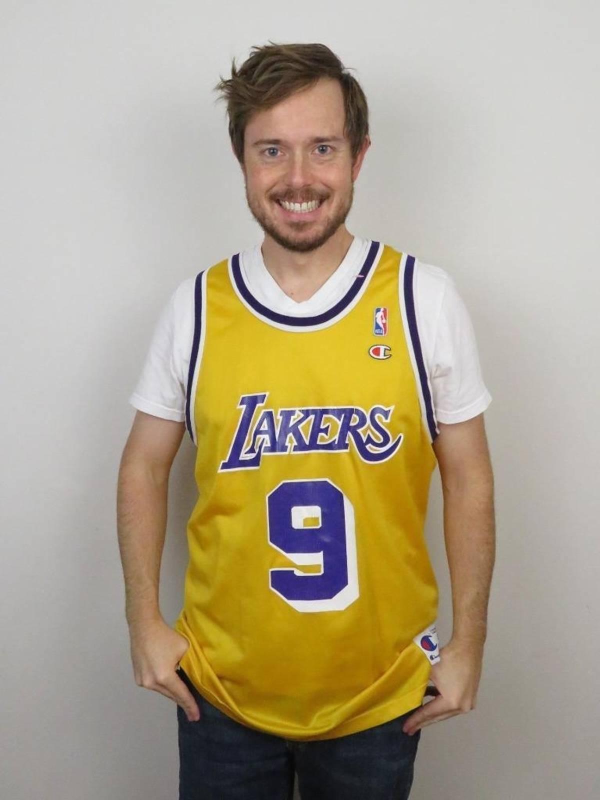 d95da7070 Champion × L.A. Lakers × Los Angeles Jersey ×. Champion Nick Van Exel Los  Angeles Lakers NBA ...