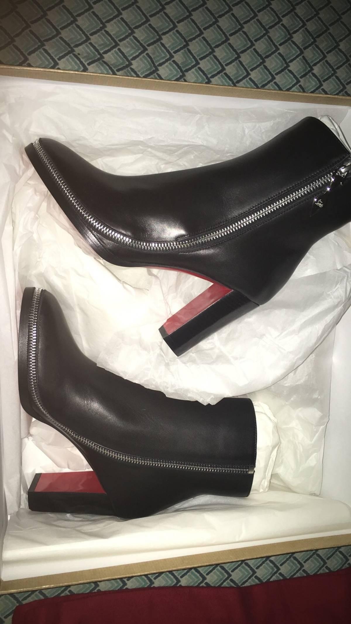 new arrival ae43b 91f43 Christian Louboutin Women's Telezip 85 Calf/ Cuoio Heel Size 6 $477