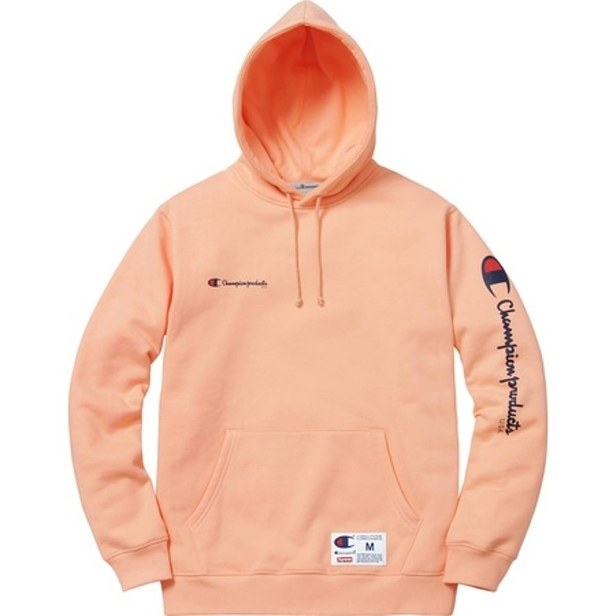 2a5ee172059 Supreme Supreme X Champion Hooded Sweatshirt In Peach